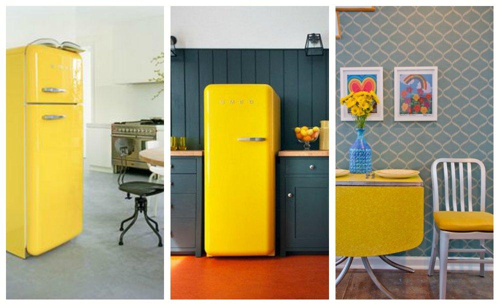 Выбираем холодильник до 5 000 грн - желтый холодильник smeg