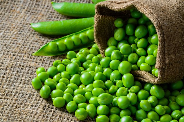Зеленый горошек-ингредиенты