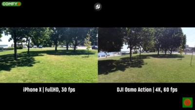 Качество съемки DJI Оsmo Аction