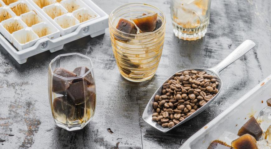 Кофейный лед-в напитках для лета
