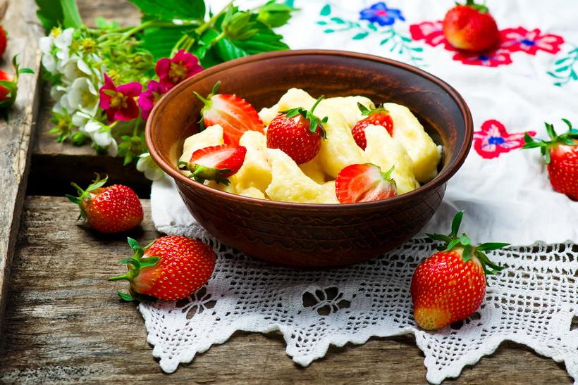 Ленивые вареники-с ягодами