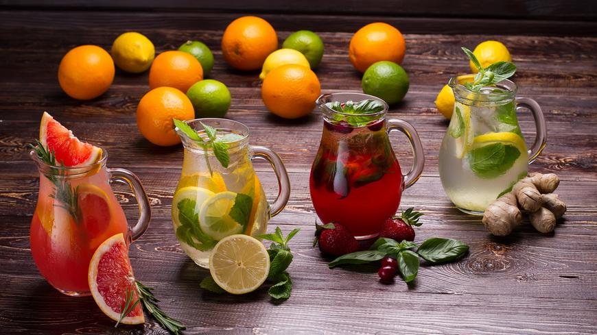 Лимонады на разный вкус-ассорти