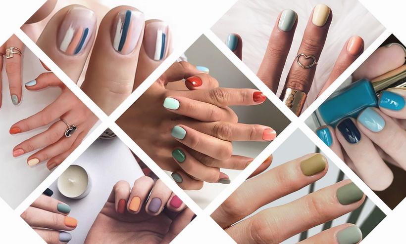 Маникюр-разноцветные ногти