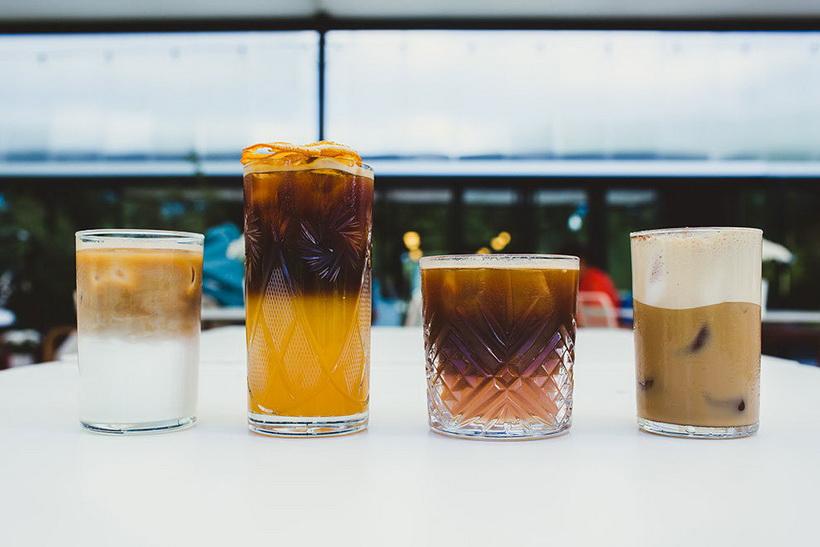 Модные напитки лета-ассорти