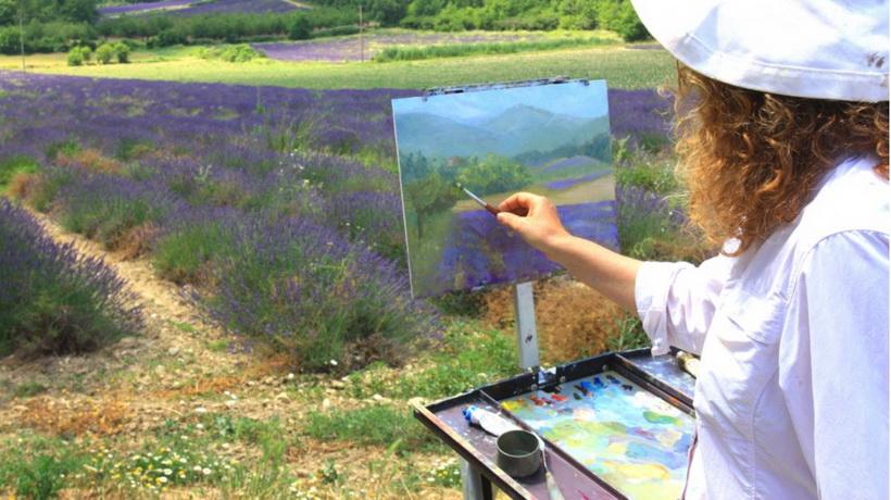 Рисование на природе-лето без отпуска