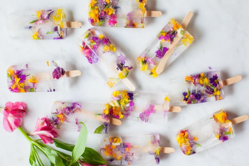 Цветочный лед-красота и польза
