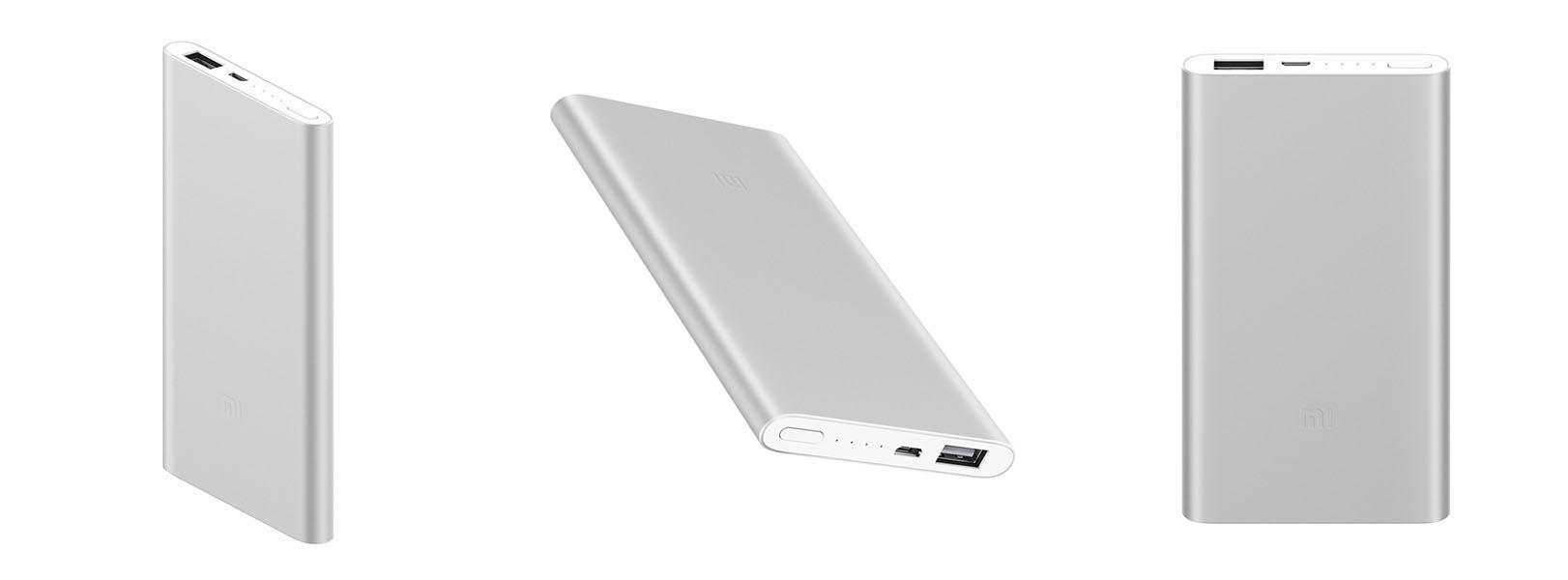 Топ-5 мобильных батарей от Comfy - батарея xiaomi 5000 в трех ракурсах