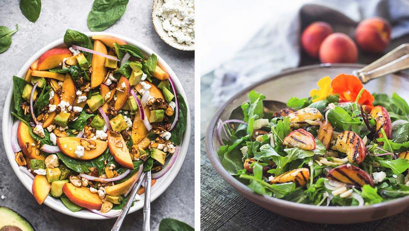 Зеленый салат-с абрикосами и помидорами черри