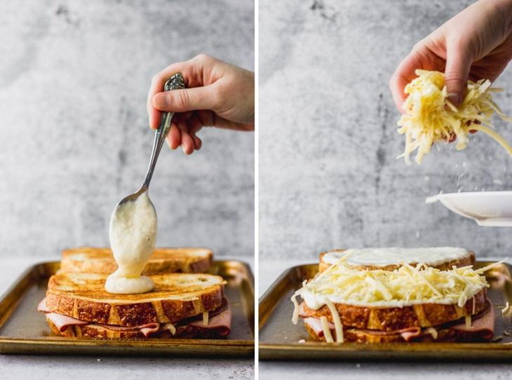 croque madame sandwiches-приготовление