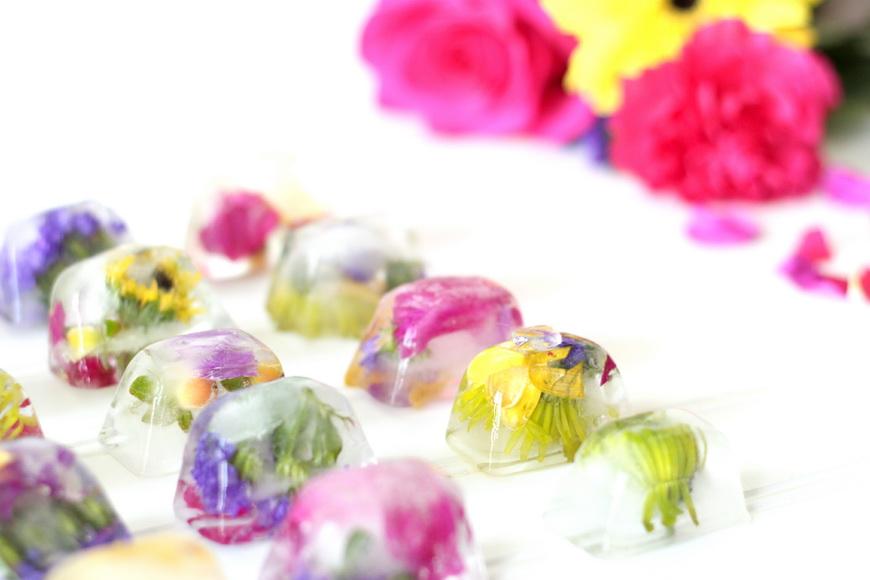 floral ice cubes-ассорти