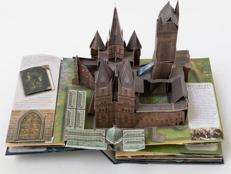 Книга о Гарри Поттере с трехмерными бумажными моделями внутри 4