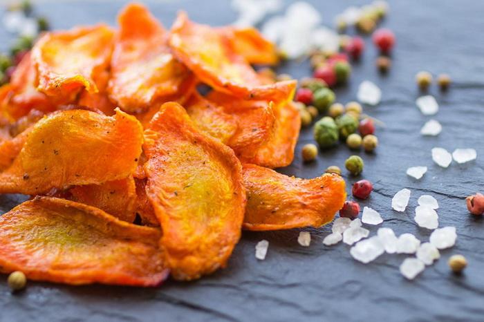 Морковные чипсы-как сделать