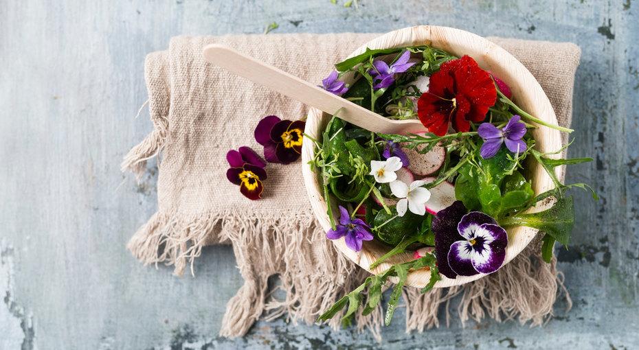Съедобные цветы-рецепты