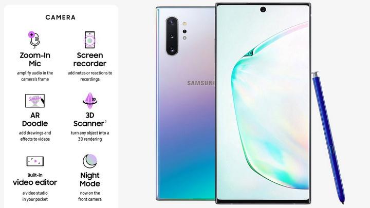 Samsung Galaxy Note 10 Plus-возможности камеры