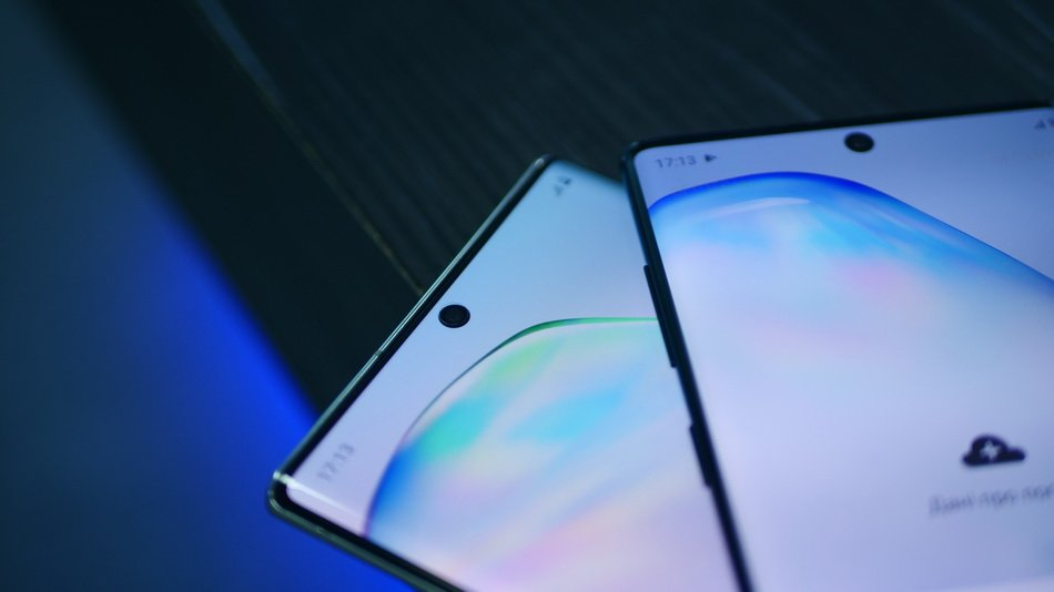 Samsung Galaxy Note 10 and Note 10 Plus-лицевая панель