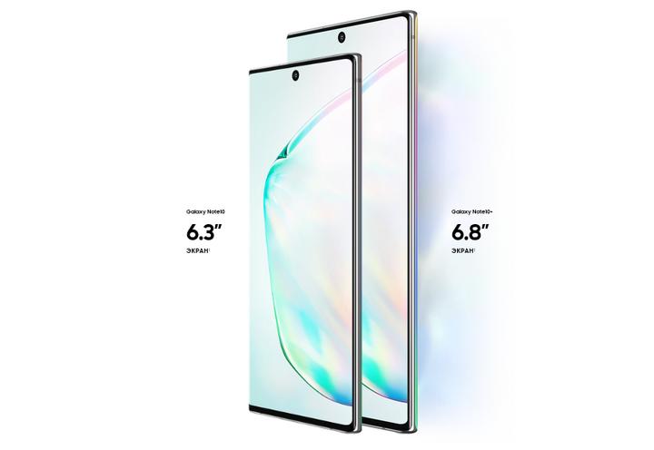 Samsung Galaxy Note 10-диагонал экрана флагманов сравнение