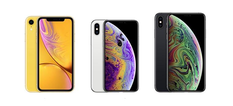Смартфоны Apple три серии