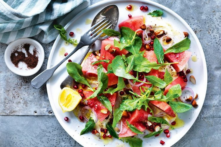 Watermelon and pomegranate-salad
