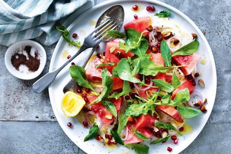 Watermelon and pomegranate-salad