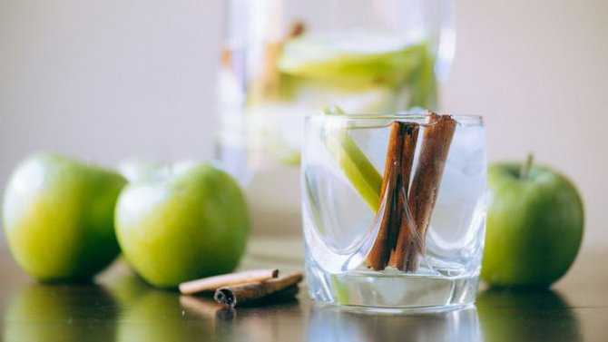 Яблочно-коричная вода