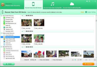 Tenorshare як відновити фотографії на айфоні