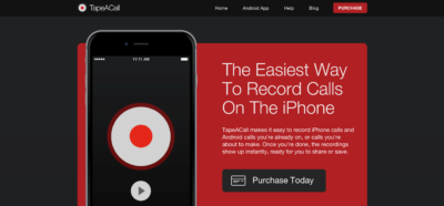 TapeACall для записи звонков на айфон