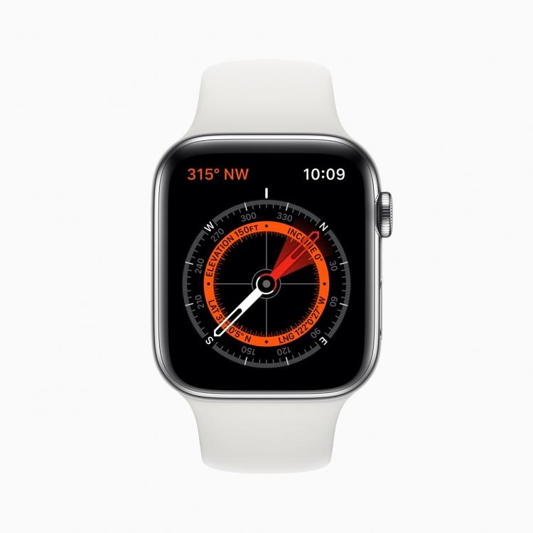 Apple Watch 5-ориентирование на местности