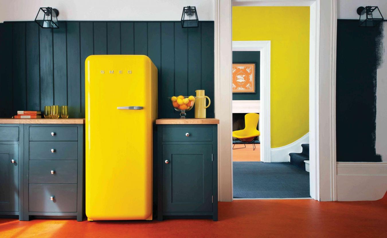 Будь в тренде_холодильники и их технологии в 2019 - желтый холодильник