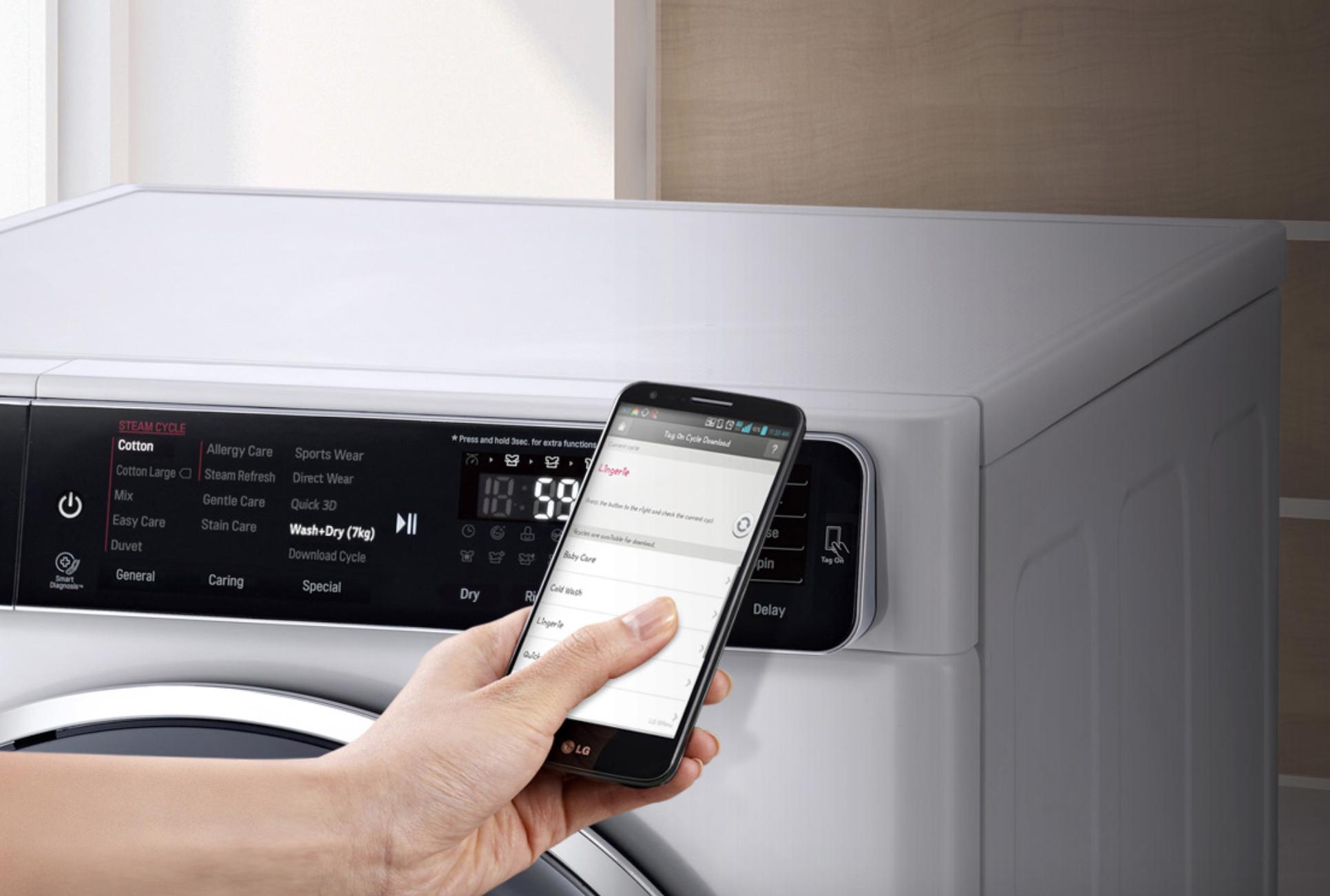Будь в тренде_технологии стиральных машин 2019 - стиральная машина со смартфоном