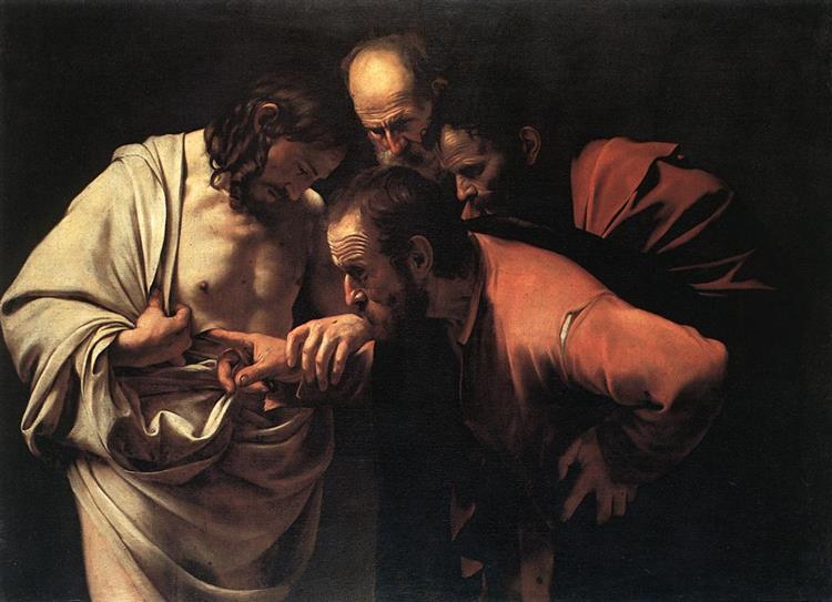 Неверие Святого Фомы-Караваджо