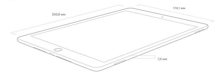 Новый iPad-размеры корпуса