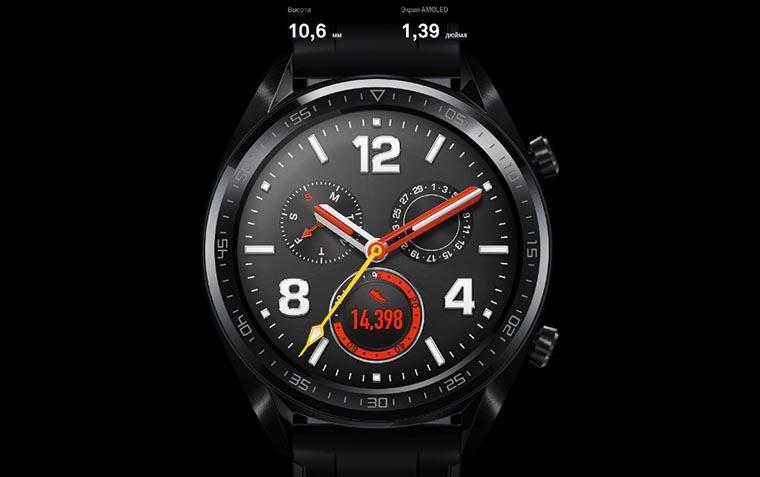 Смарт-часы Huawei Watch GT Sport черные