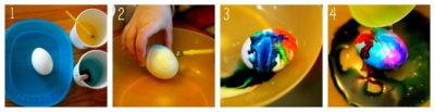 Етапи фарбування яєць