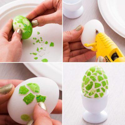 Мозаїка зі шкаралупи яєць.