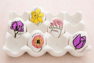 Квіткові великодні яйця.