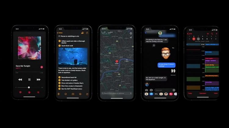 iOS 13-темный режим