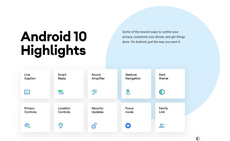 ключевые особенности представленного официально Android 10 2