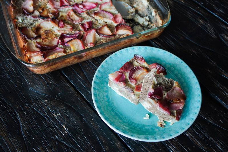 Бородинский яблочный хлебный пудинг-рецепт