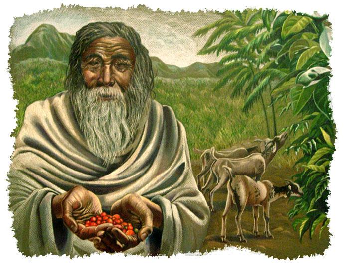 Легенда происхождения кофе-пастух Кальдий