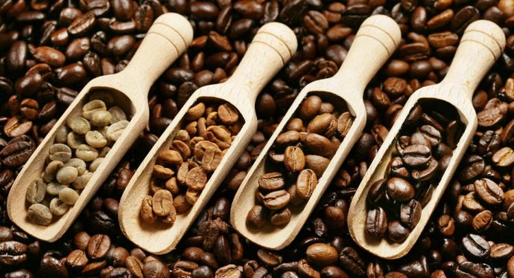 Обжарка кофе-иллюстрация