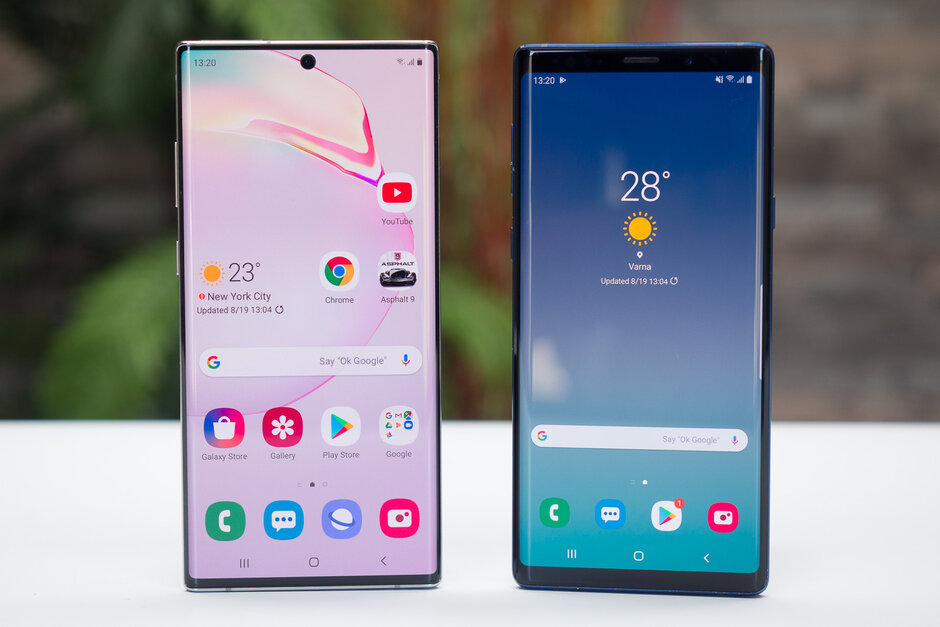 Samsung Galaxy Note 10+ против Galaxy Note 9 - два смартфона