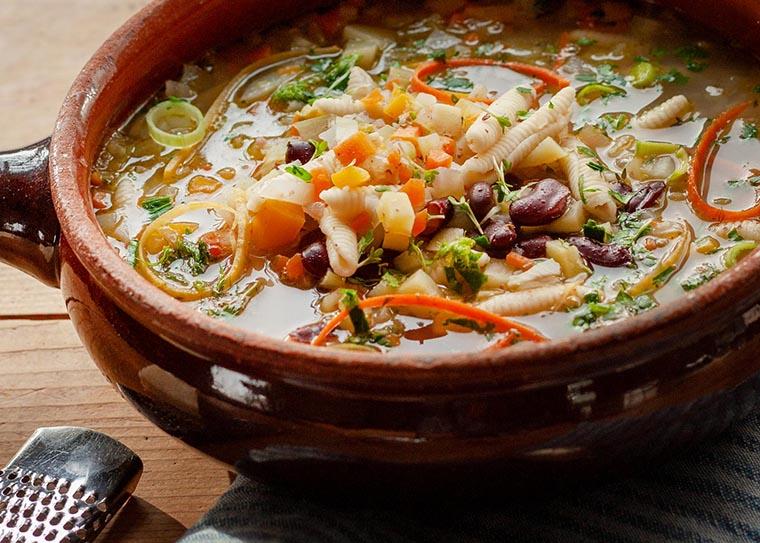 Суп минестроне с макаронами