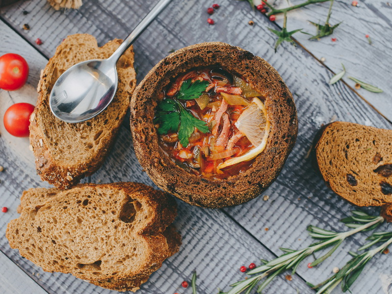 Суп в хлебе-рецепты
