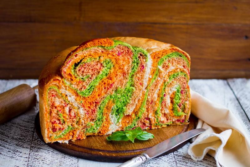 Цветной хлеб-вкусный креатив