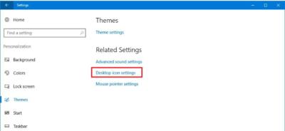 Відновити старі іконки Windows