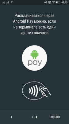 Android Pay-значок на терміналі