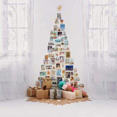 Ялинка з фотографій з подарунками
