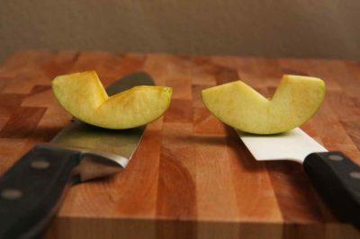 Розріз яблука через 2 години