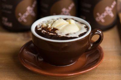 Гарячий шоколад з морозивом