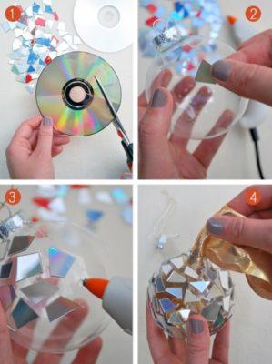 Декор зі старих дисків
